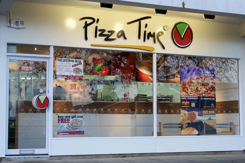 Pizza Time Shopfront