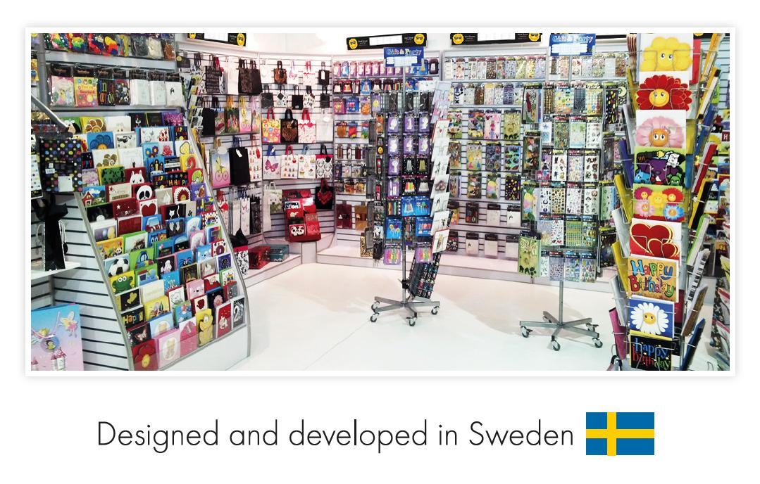 Designed and developed in Sweden