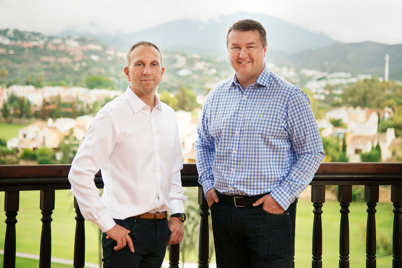Co-founders of The Travel Franchise, L-R Steve Witt and Paul Harrison