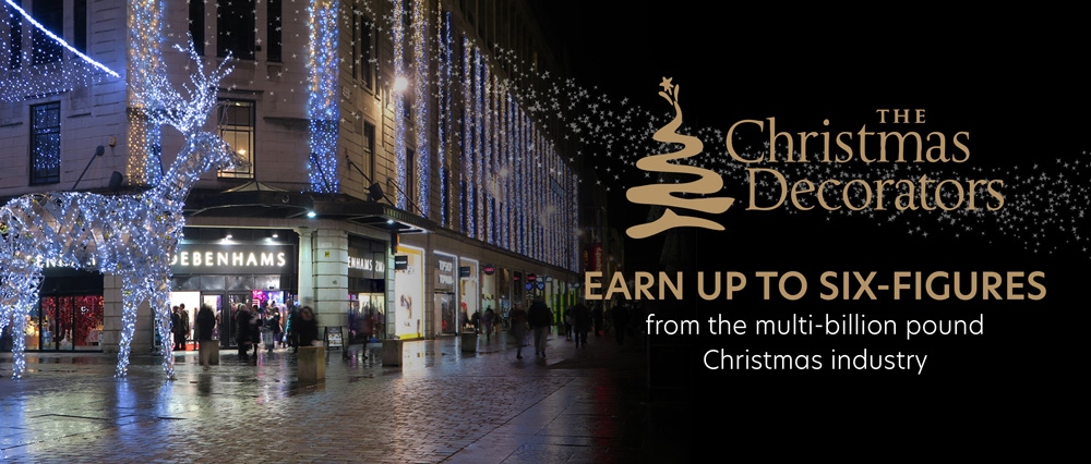 Earn up to a six-figures from the multi-billion pound Christmas decorating industry